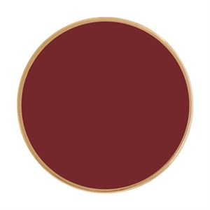 Picture of Burgundy Enamel in Large Gold Coin